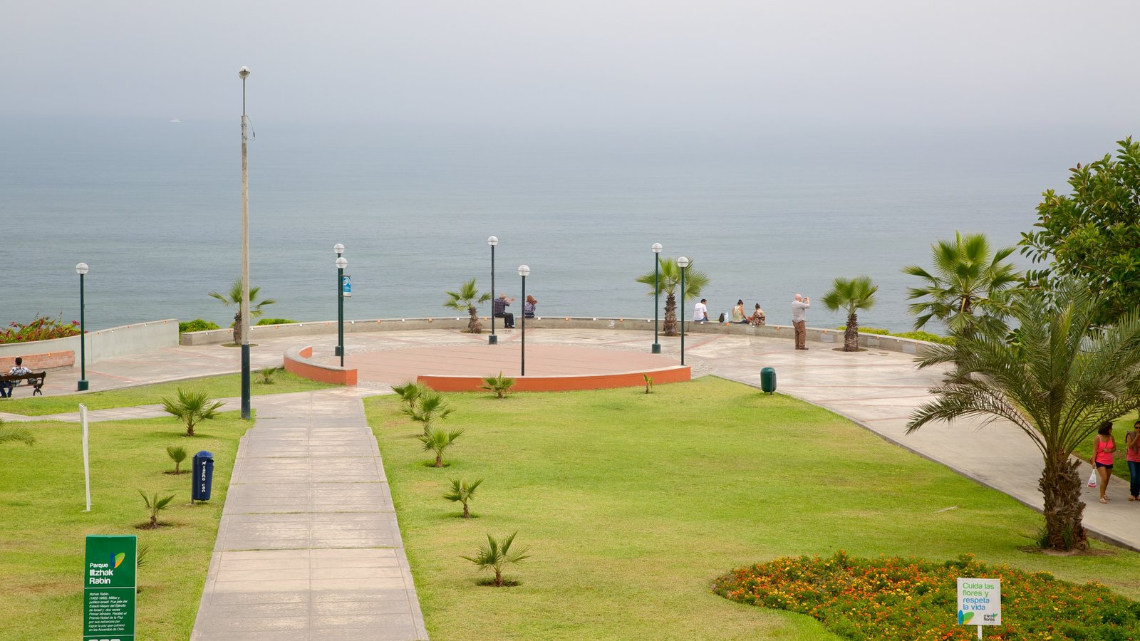 Lima featuring a garden and general coastal views