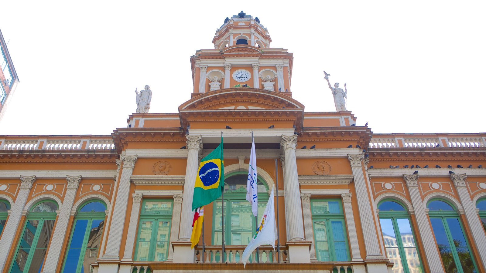 Porto Alegre caracterizando arquitetura de patrimônio