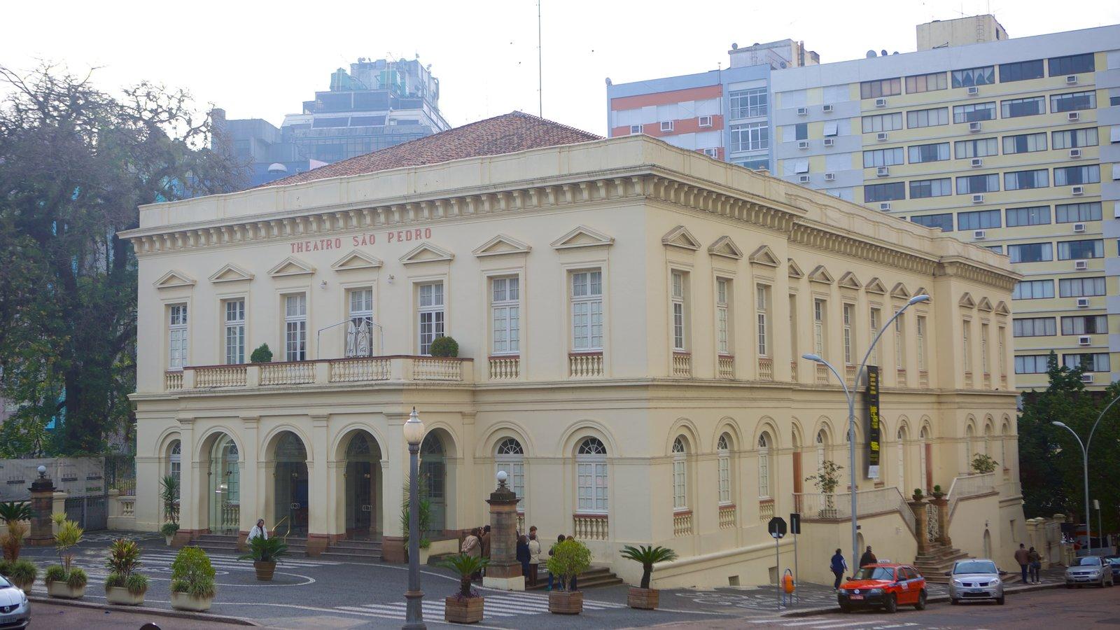 Porto Alegre mostrando arquitetura de patrimônio e cenas de rua
