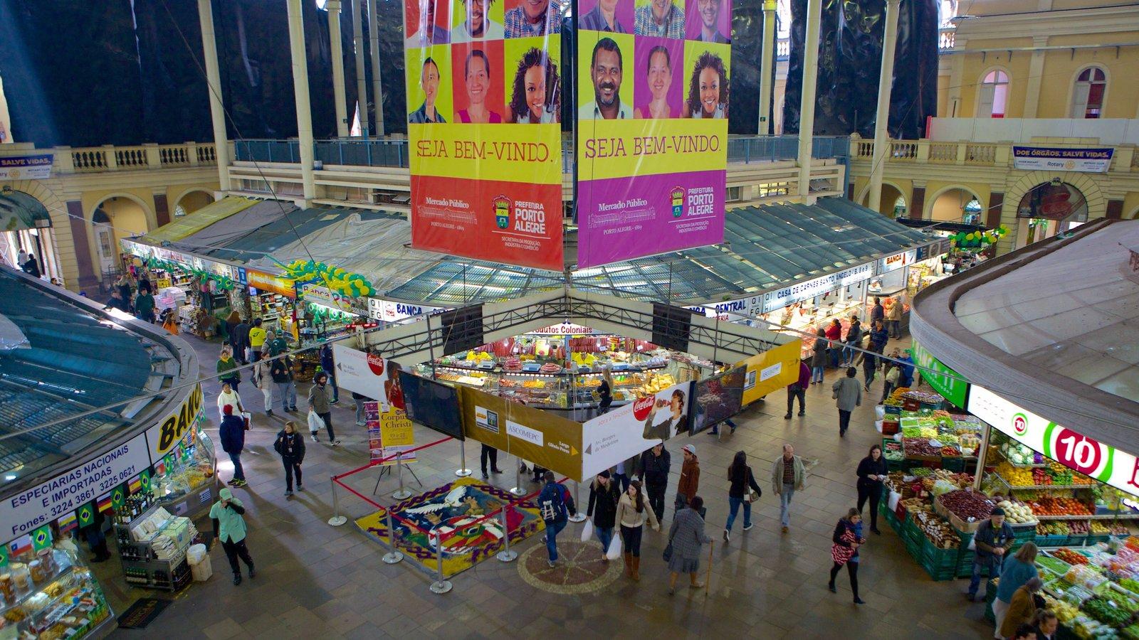 Mercado Público mostrando comida, cenas de rua e mercados