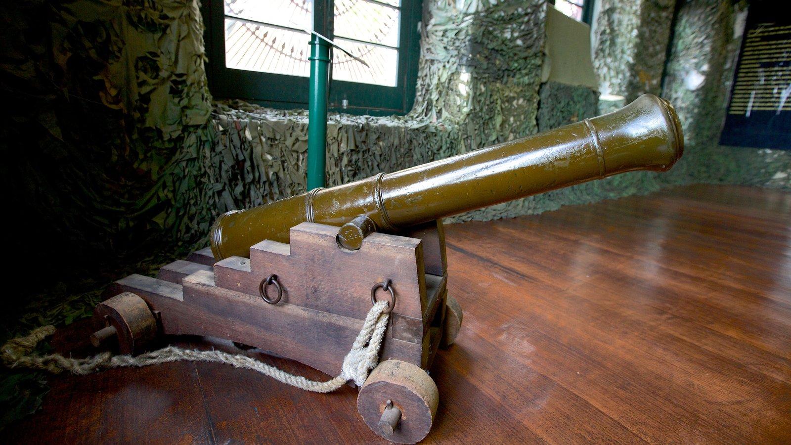 Museu Militar mostrando vistas internas e itens militares