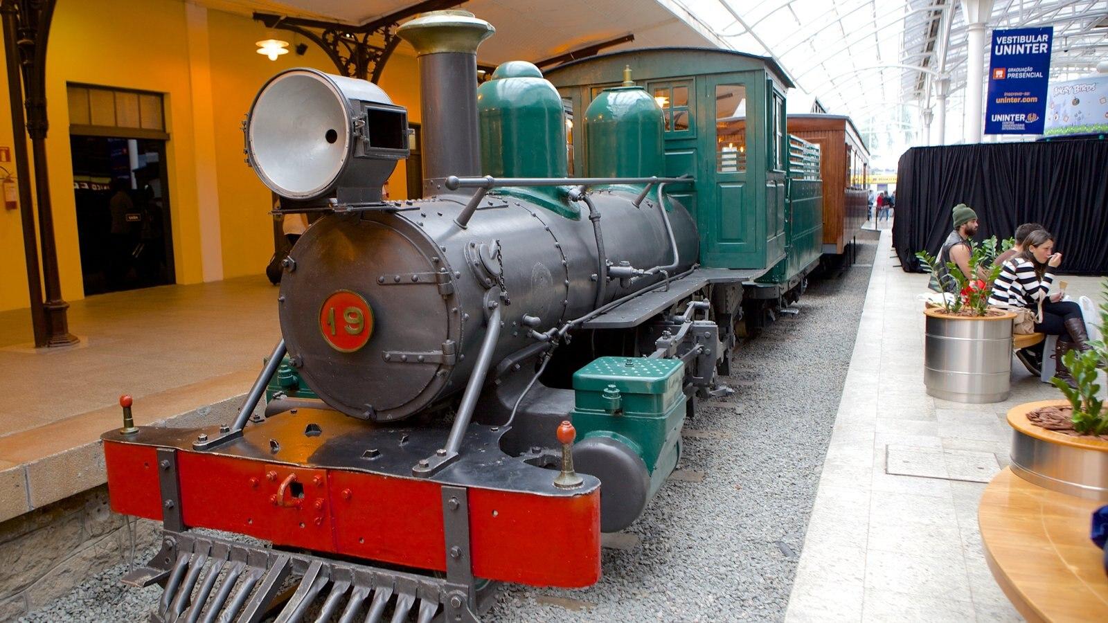 Museu da Ferrovia que inclui itens de ferrovia