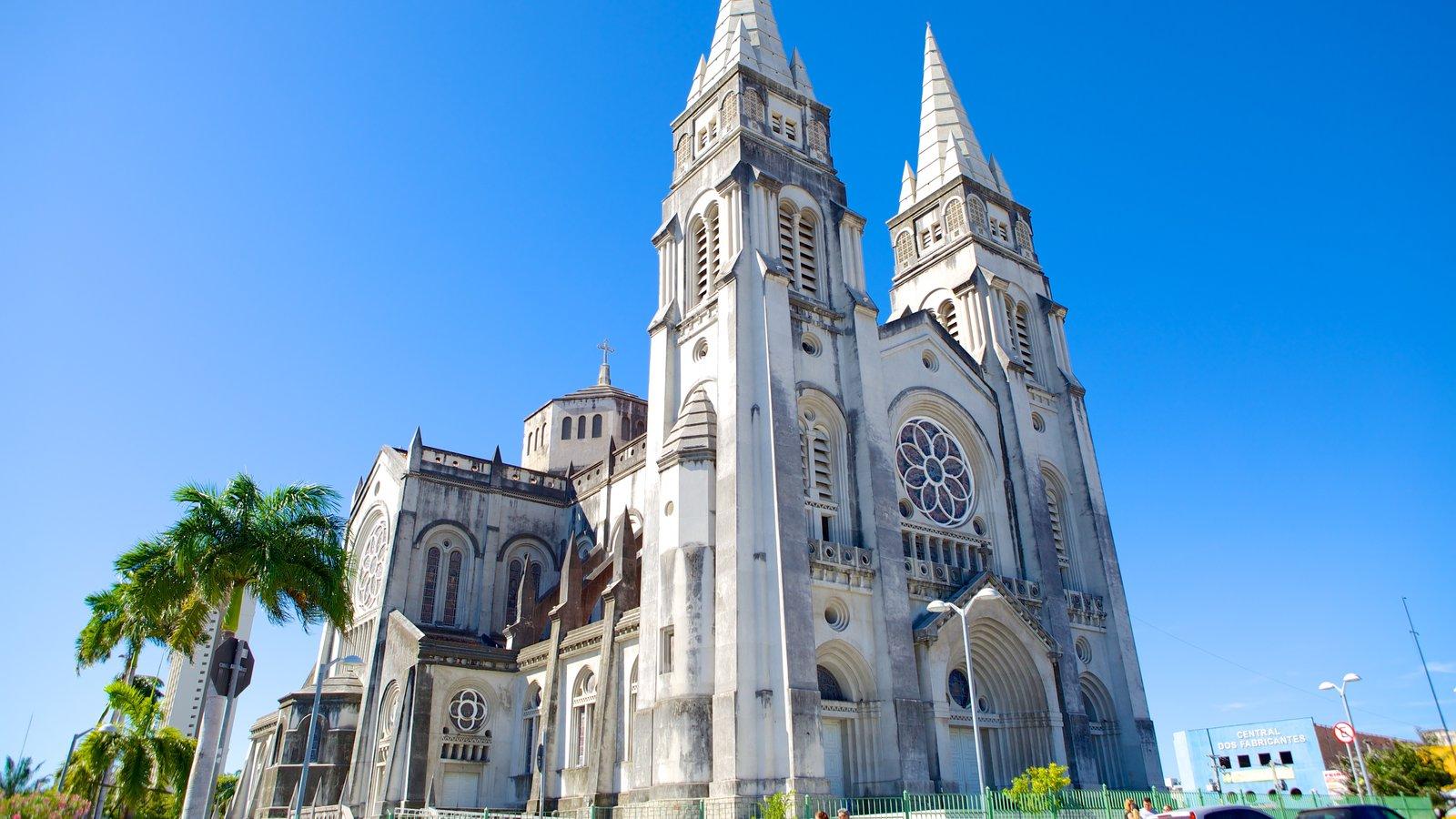 Catedral da Sé que inclui aspectos religiosos e uma igreja ou catedral