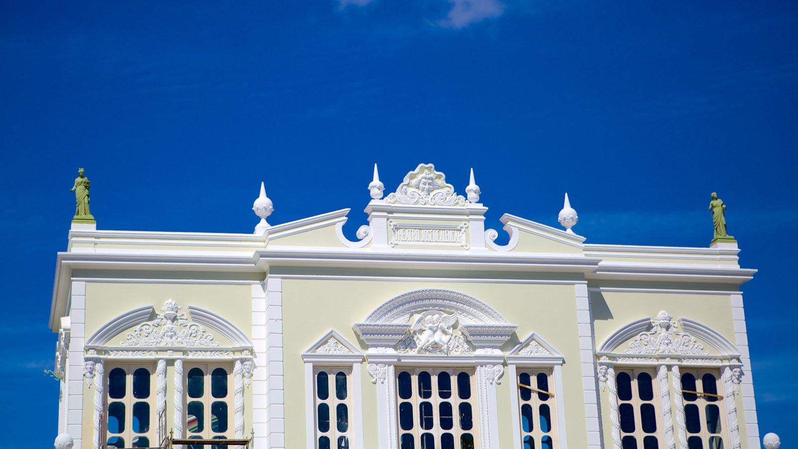 Theatro José de Alencar que inclui arquitetura de patrimônio