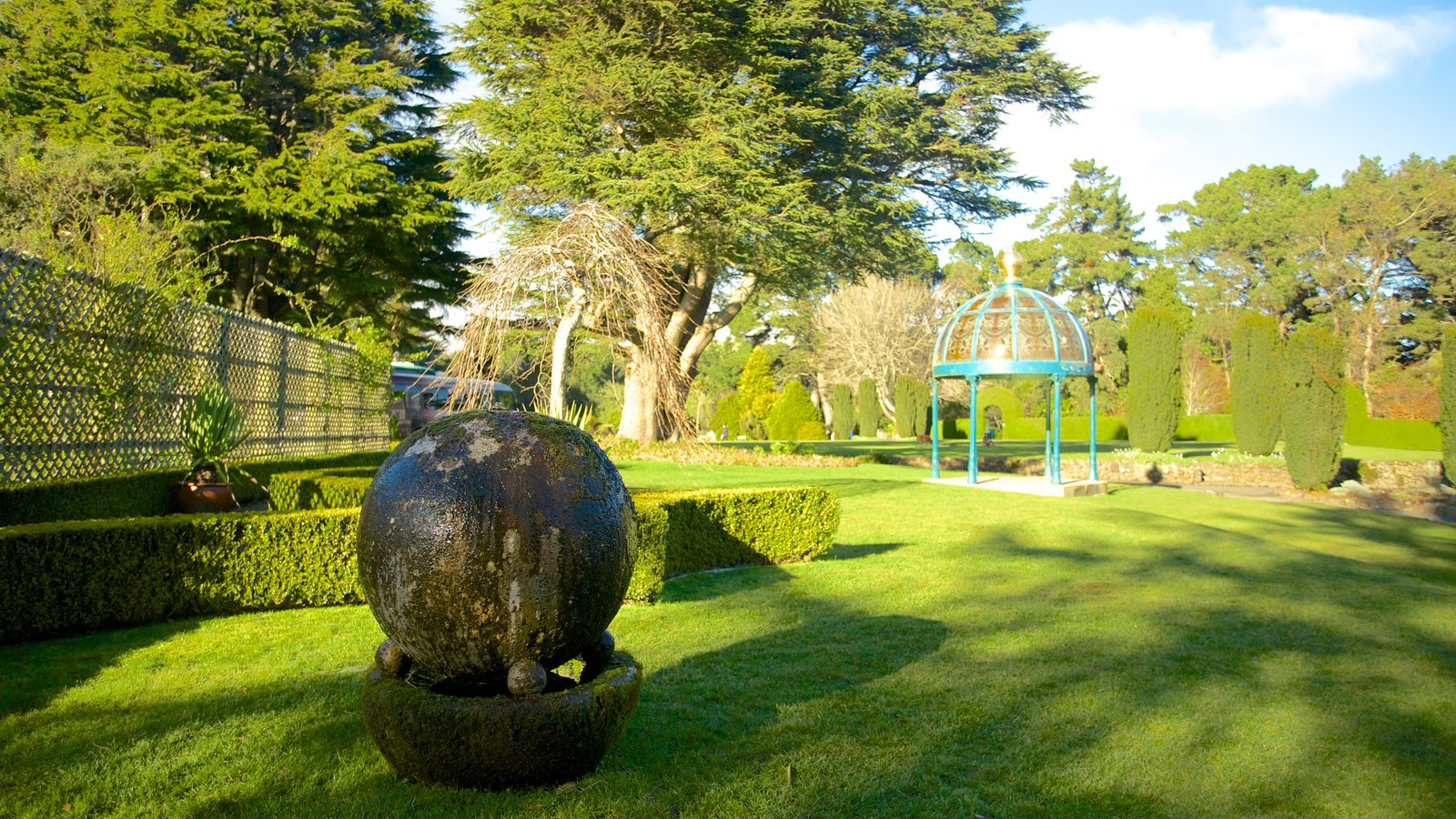 Larnach Castle which includes a garden and outdoor art