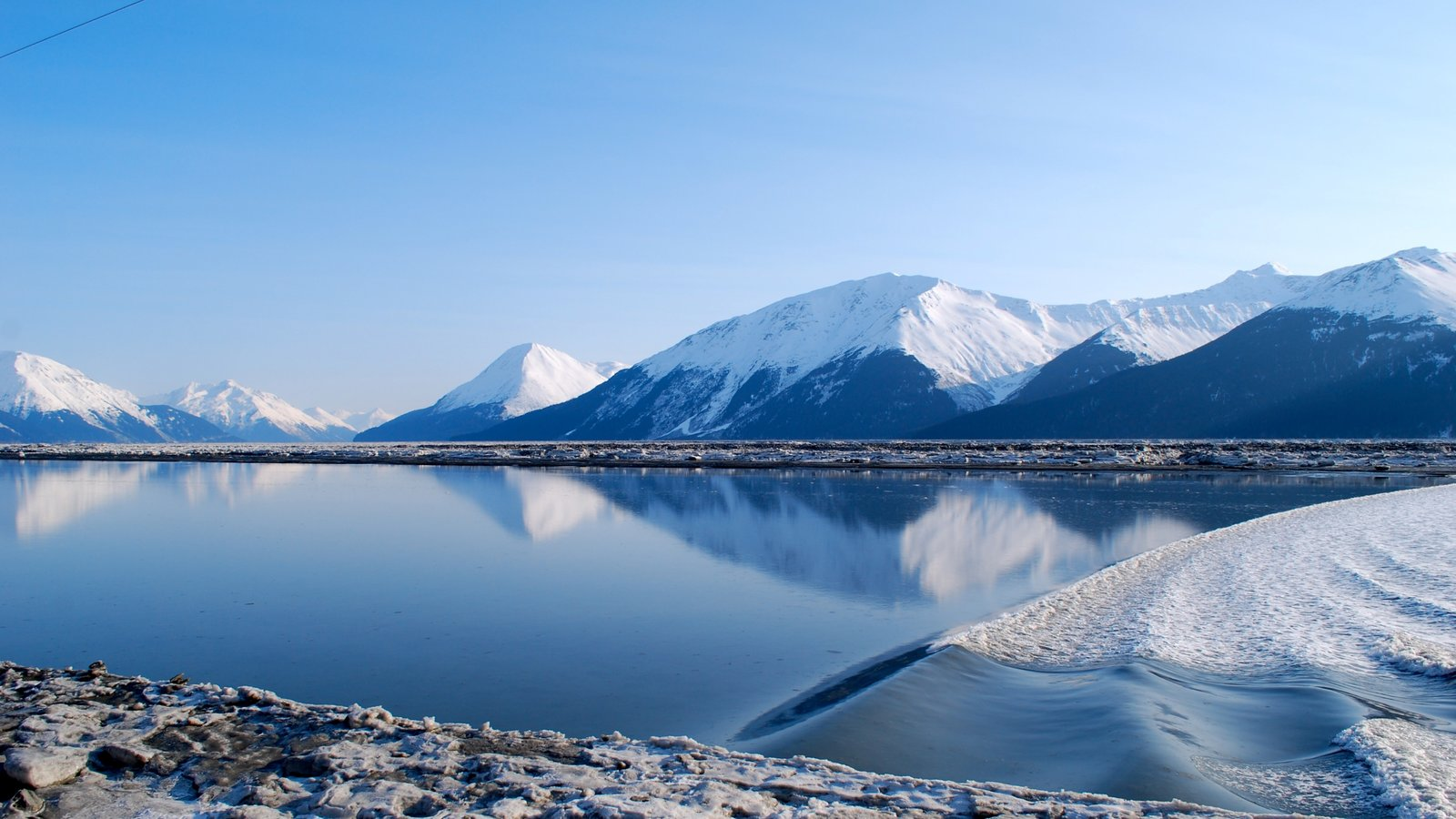 Anchorage featuring mountains, landscape views and general coastal views