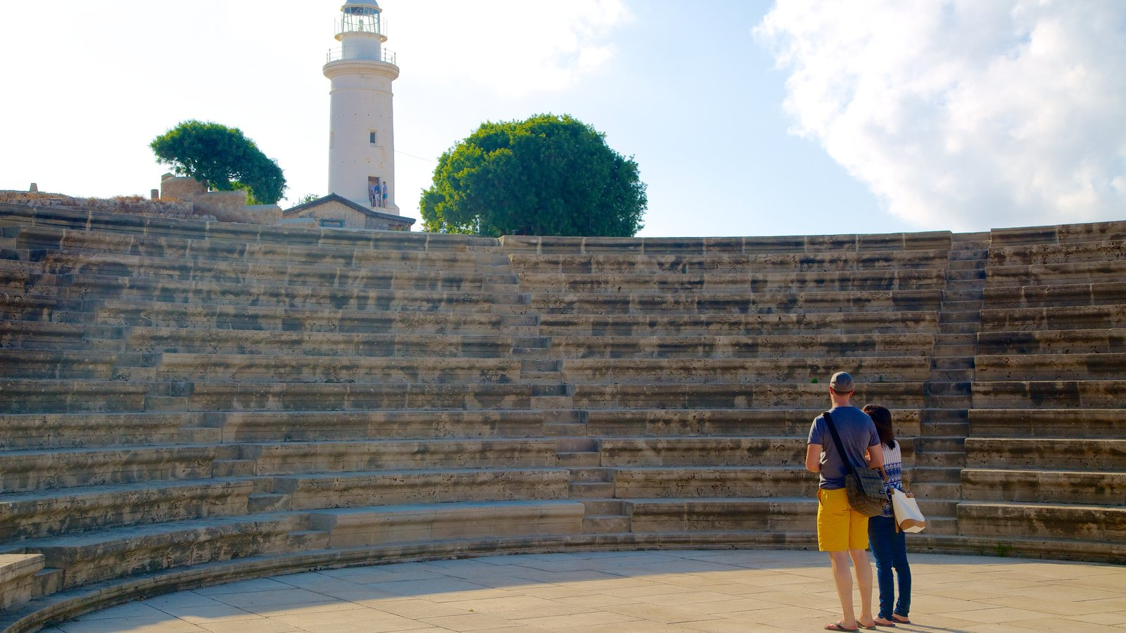 Paphos featuring heritage elements as well as a couple