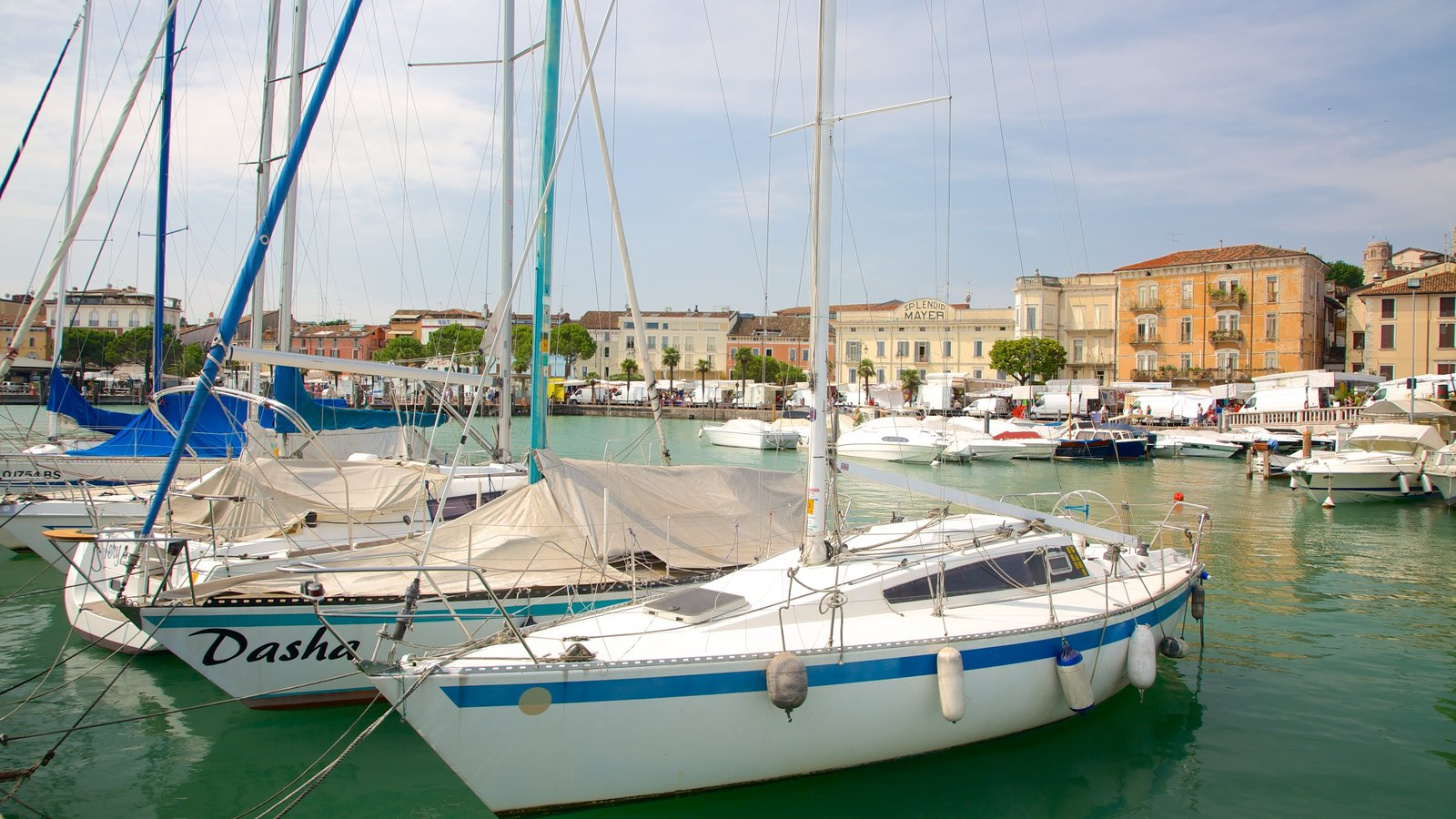 Desenzano del Garda featuring boating, sailing and general coastal views