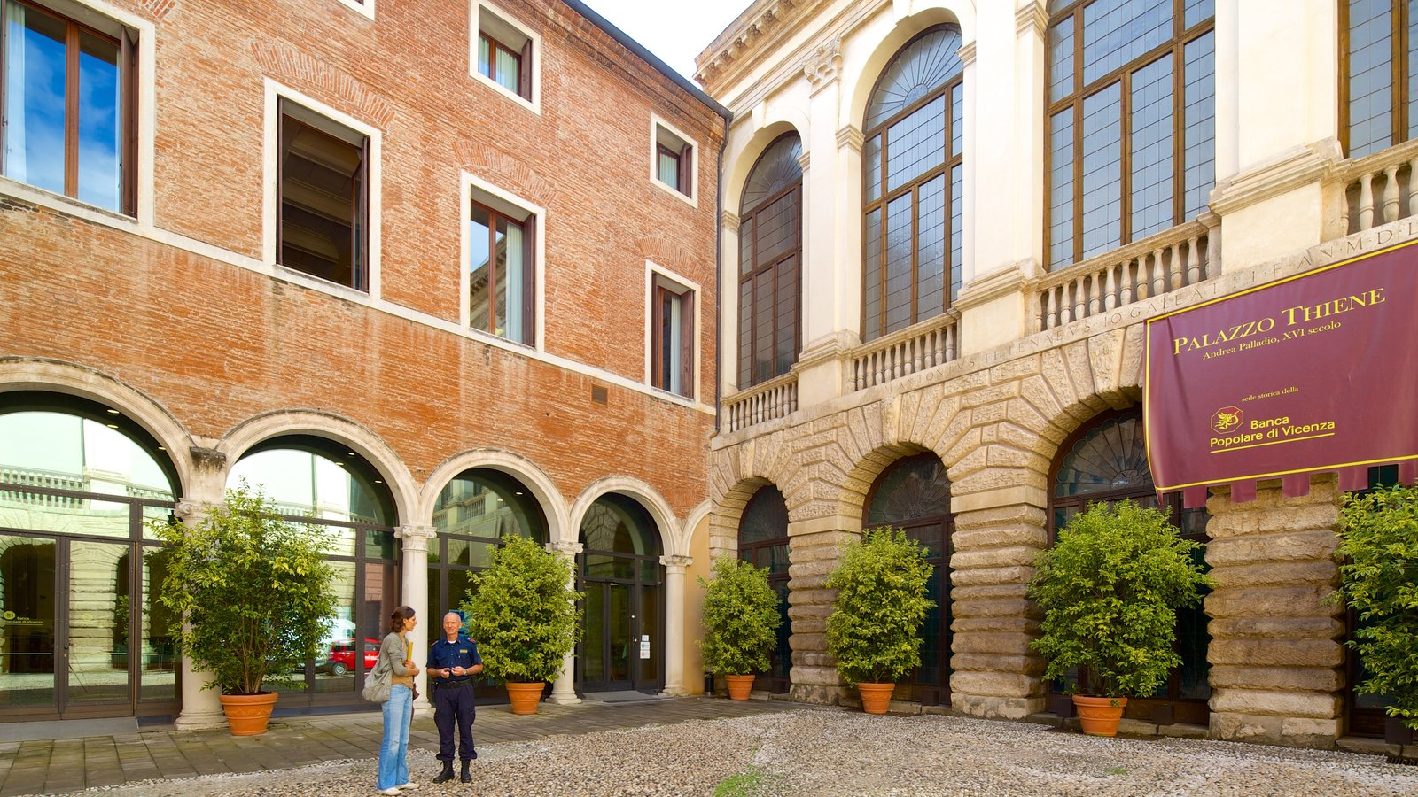 Palazzo Thiene featuring street scenes and a square or plaza