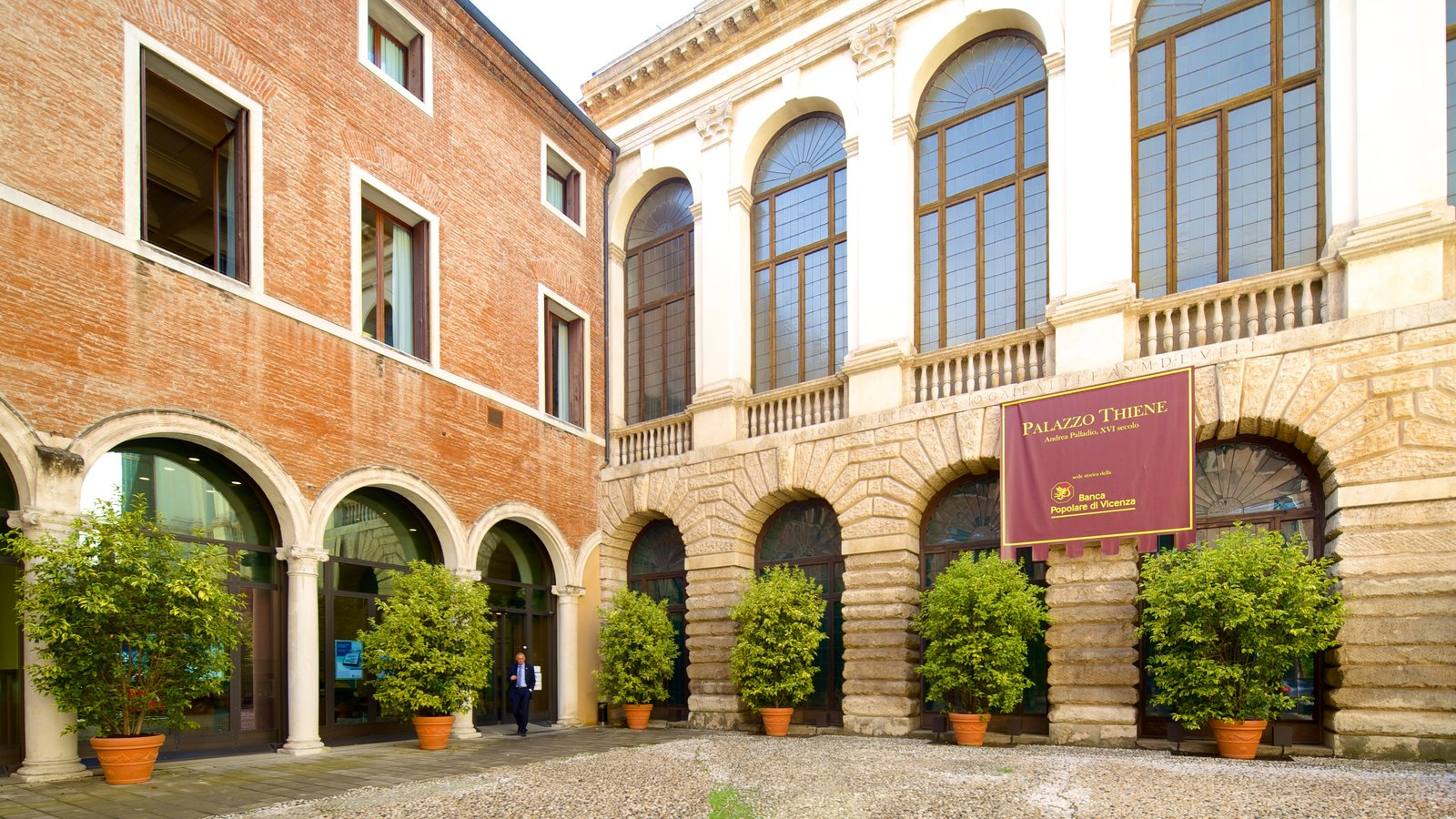 Palazzo Thiene featuring a square or plaza and street scenes