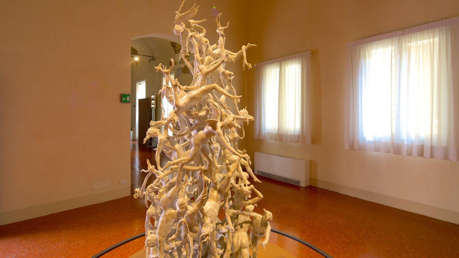 Gallerie di Palazzo Leoni Montanari which includes art and interior views