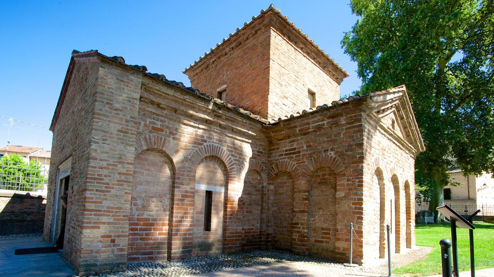 Mausoléu de Galla Placidia caracterizando elementos de patrimônio