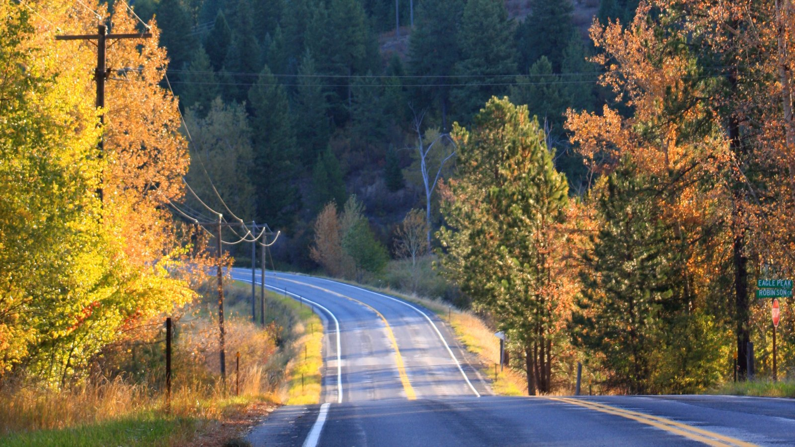 Coeur d\'Alene featuring farmland, fall colors and landscape views