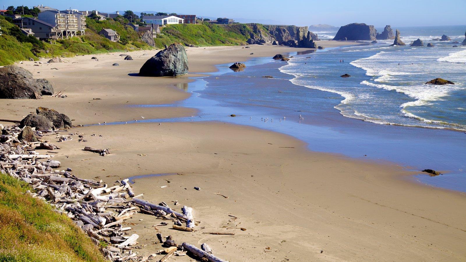Bandon Beach featuring a sandy beach