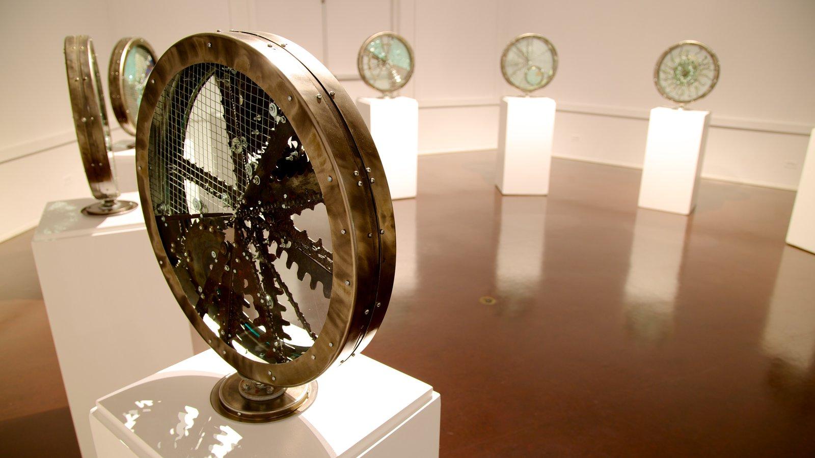 Kootenay Gallery showing interior views and art