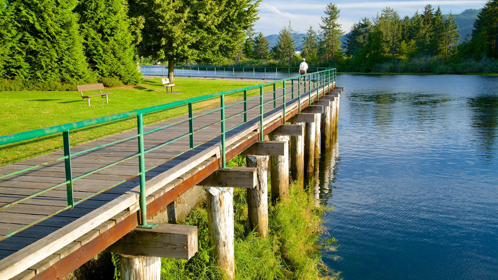 Port Alberni which includes a garden and a river or creek