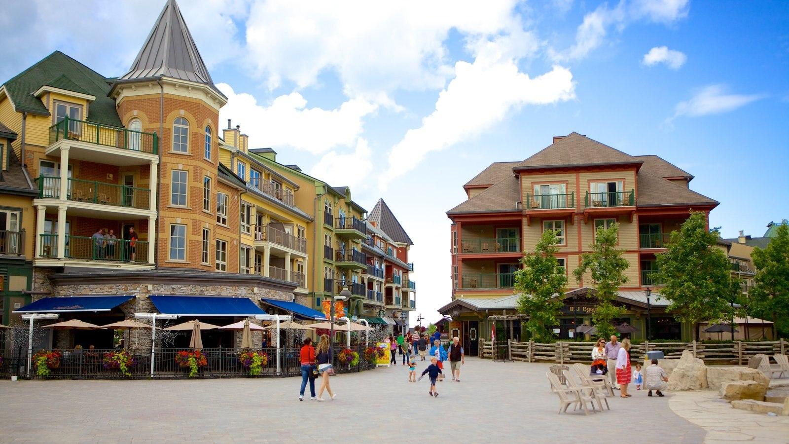 Blue Mountains mostrando cenas de rua e uma cidade pequena ou vila