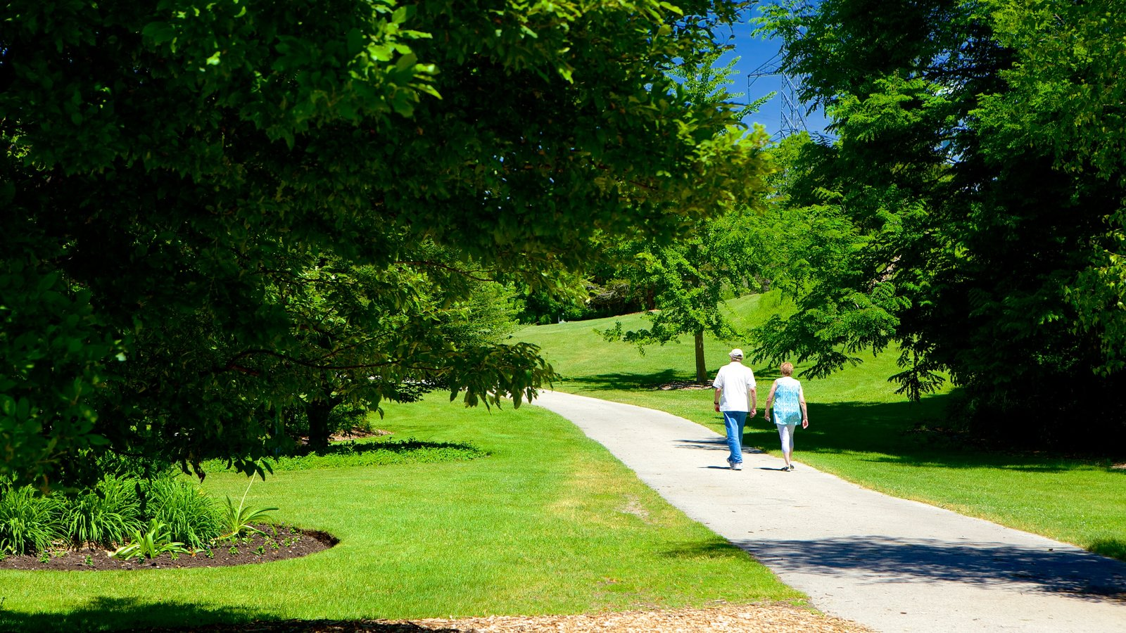 St. Thomas mostrando um jardim e escalada ou caminhada assim como um casal