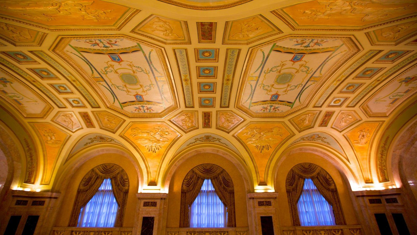 Hershey Theater mostrando arquitetura de patrimônio, vistas internas e cenas de teatro
