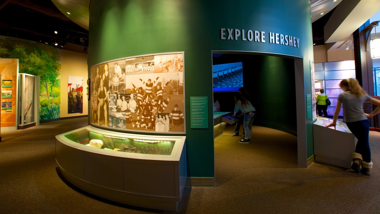 The Hershey Story Museum caracterizando vistas internas