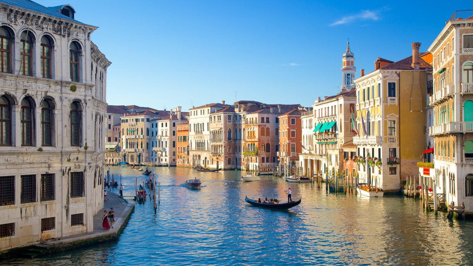 Venice showing heritage architecture and a river or creek