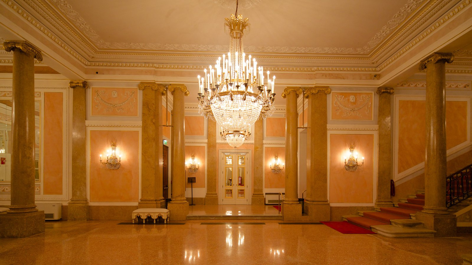 La Fenice Opera House showing heritage architecture and interior views