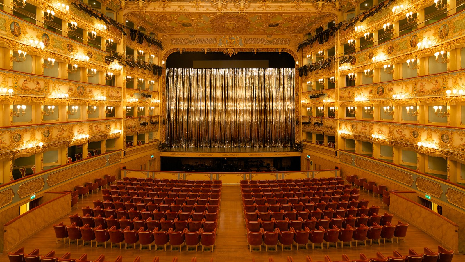 La Fenice Opera House which includes interior views and theater scenes