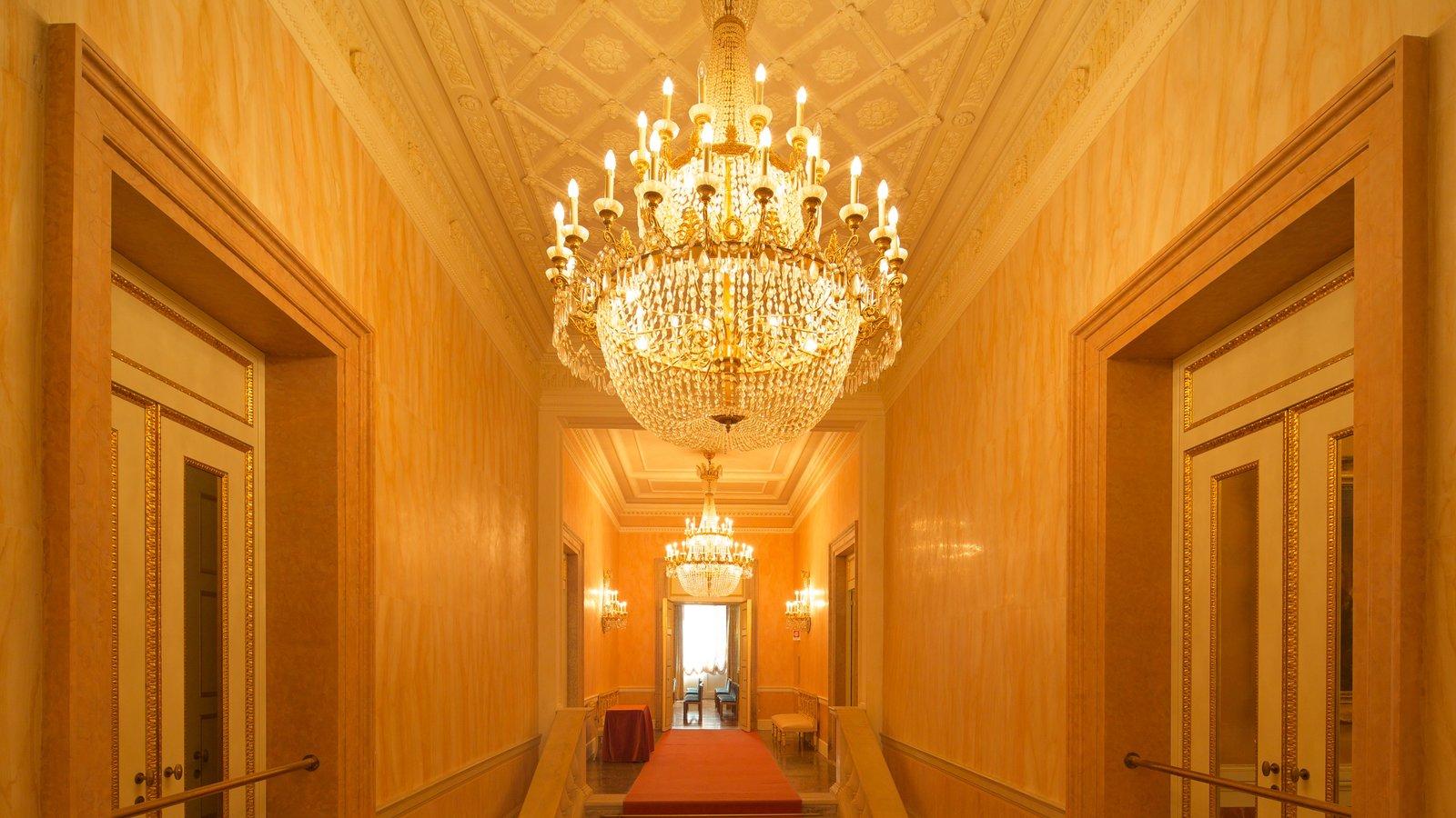 La Fenice Opera House featuring interior views and theatre scenes