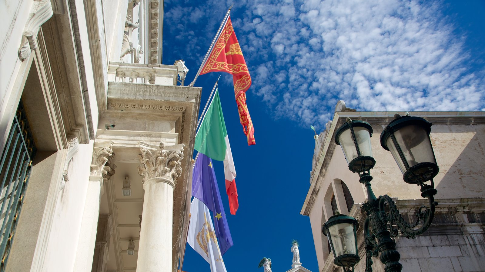 La Fenice Opera House showing a city and heritage architecture