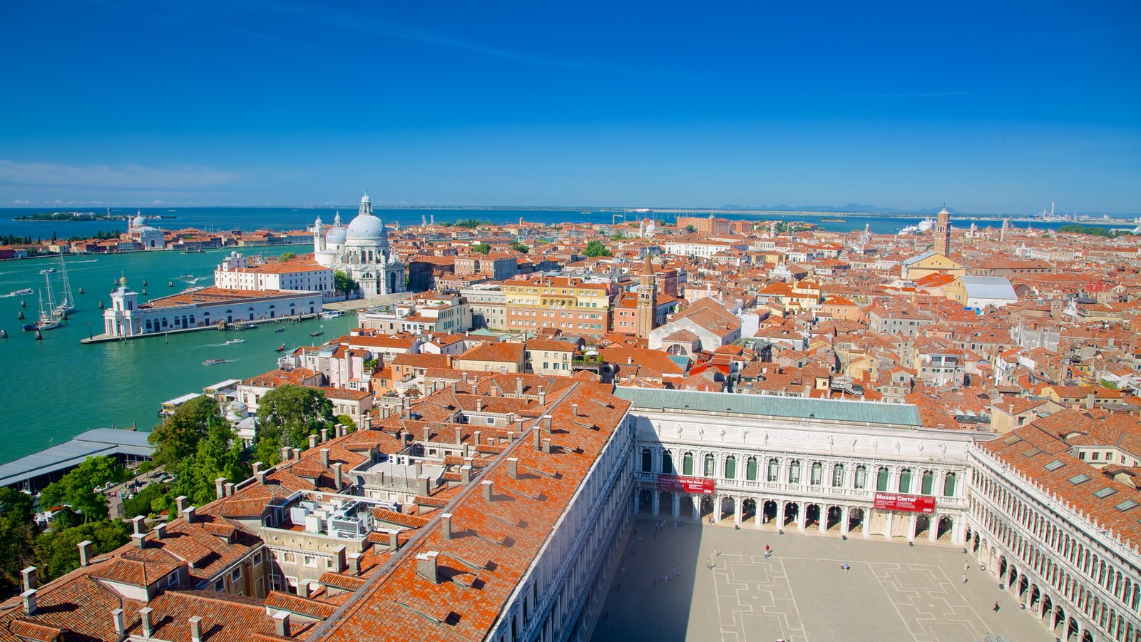 St Mark\'s Campanile which includes a coastal town and heritage architecture