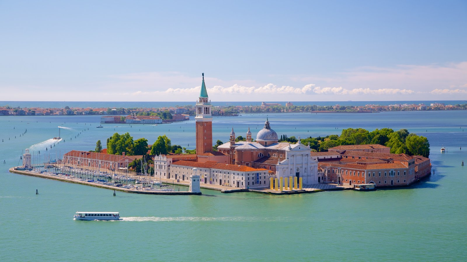 St Mark\'s Campanile featuring a coastal town and island images