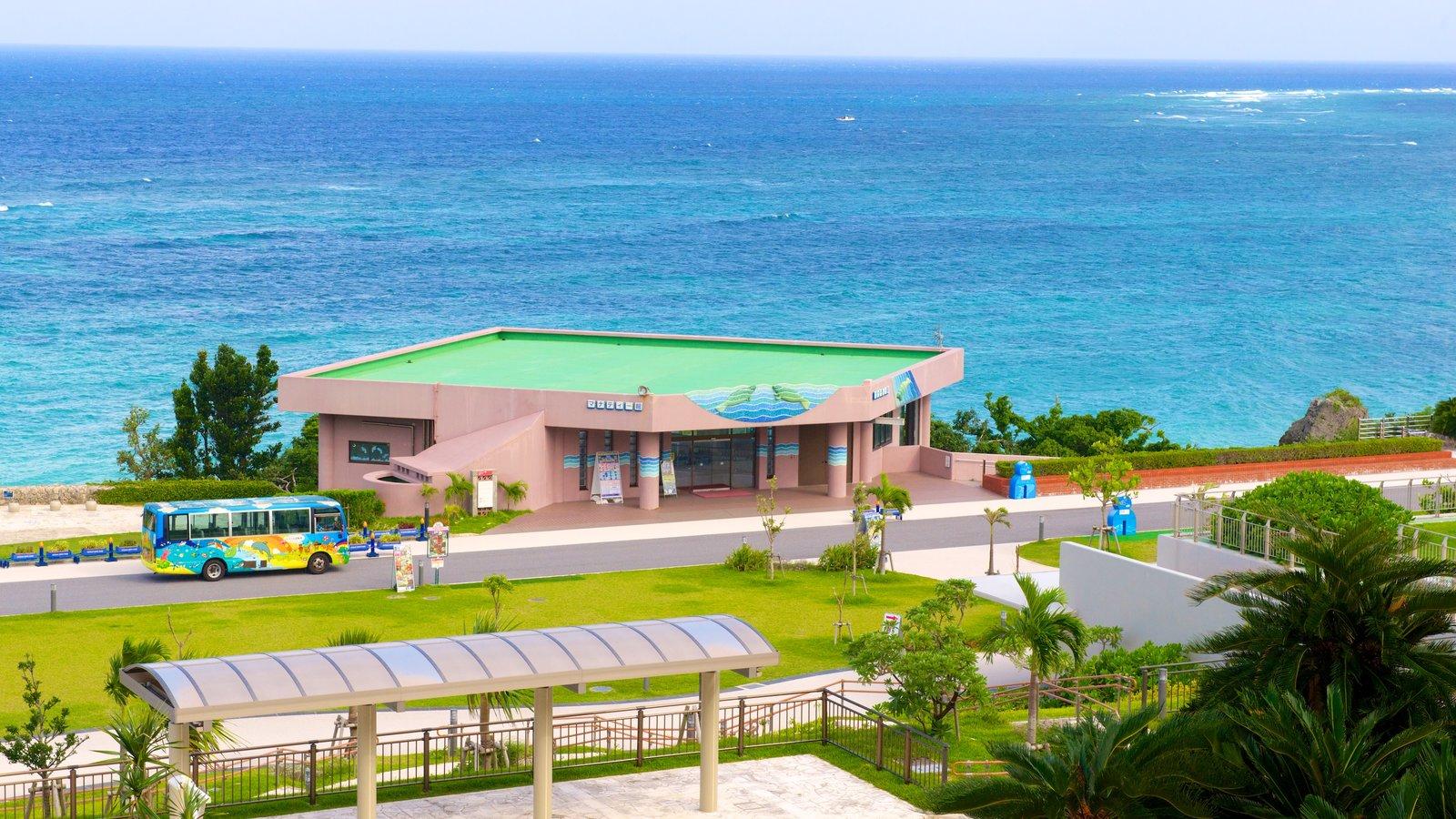 Okinawa Churaumi Aquarium which includes general coastal views
