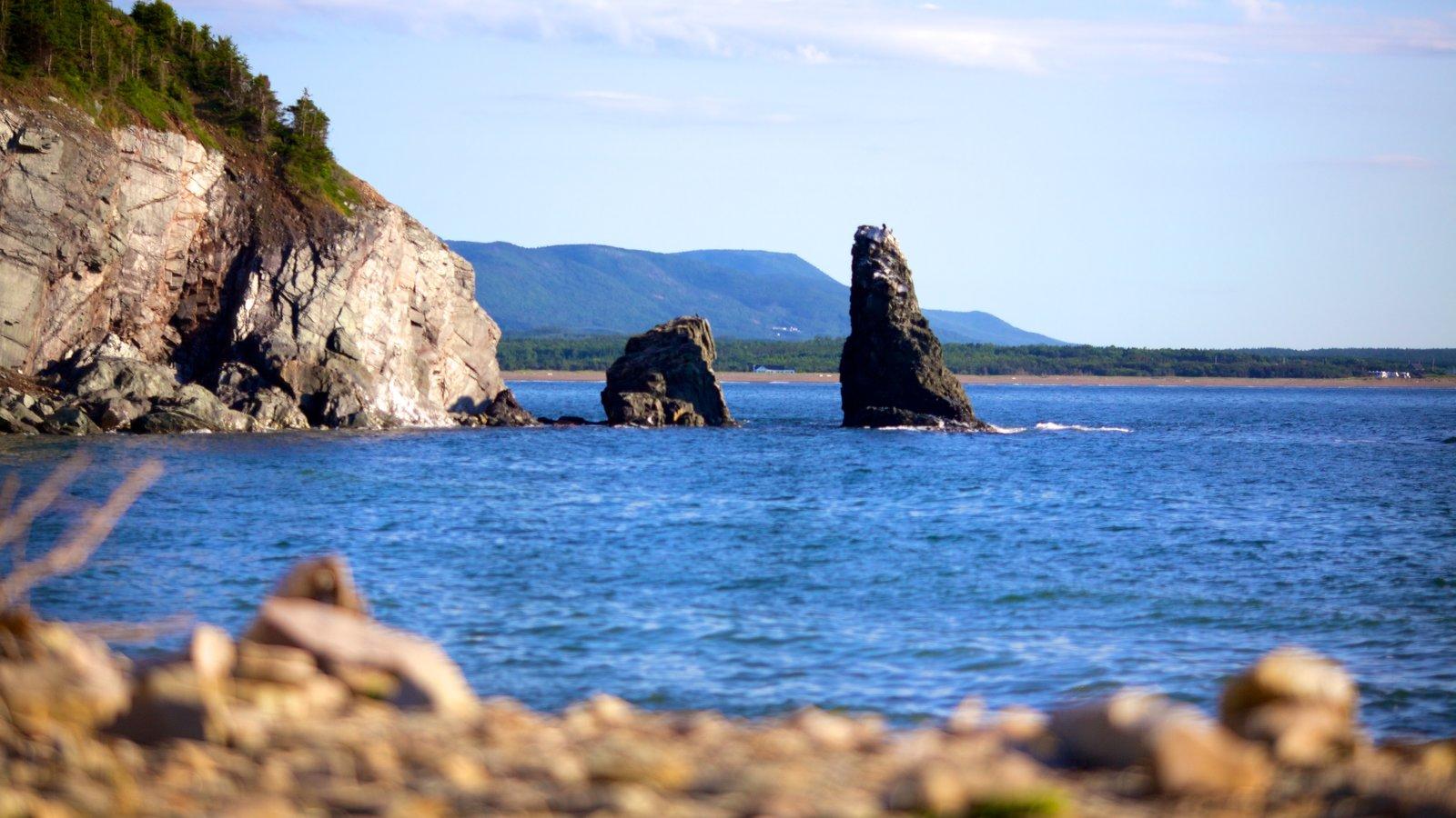 Cape Breton Highlands National Park mostrando litoral acidentado