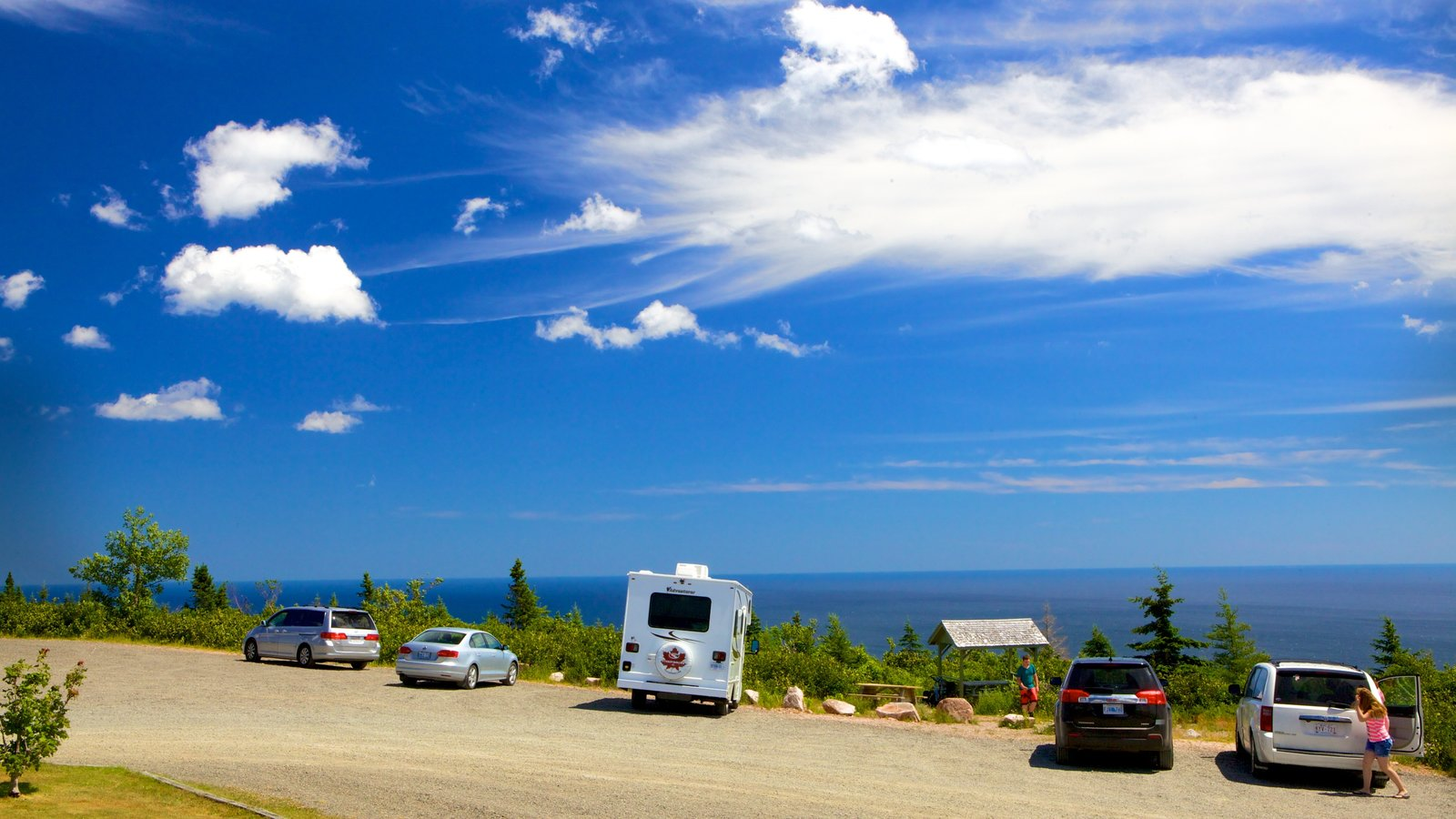 Cape Smokey mostrando paisagens litorâneas