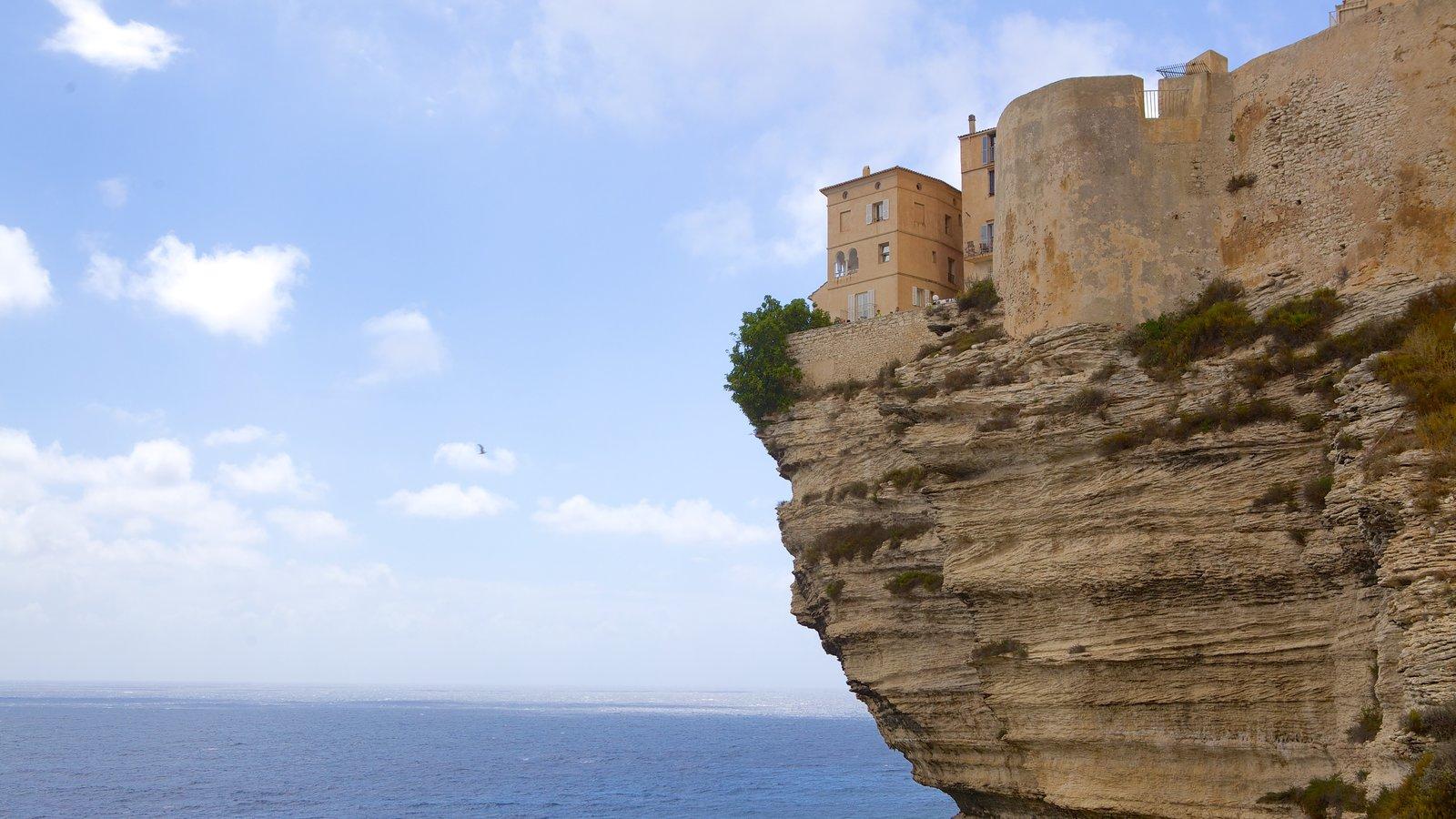 Bonifacio which includes rocky coastline