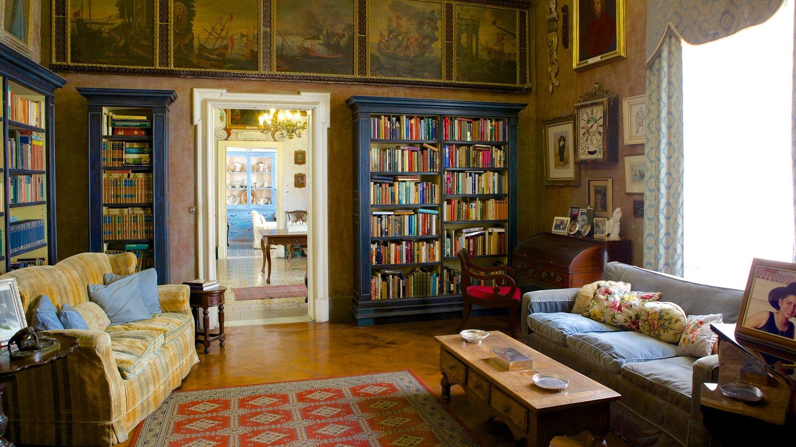Casa Rocca Piccola caracterizando vistas internas