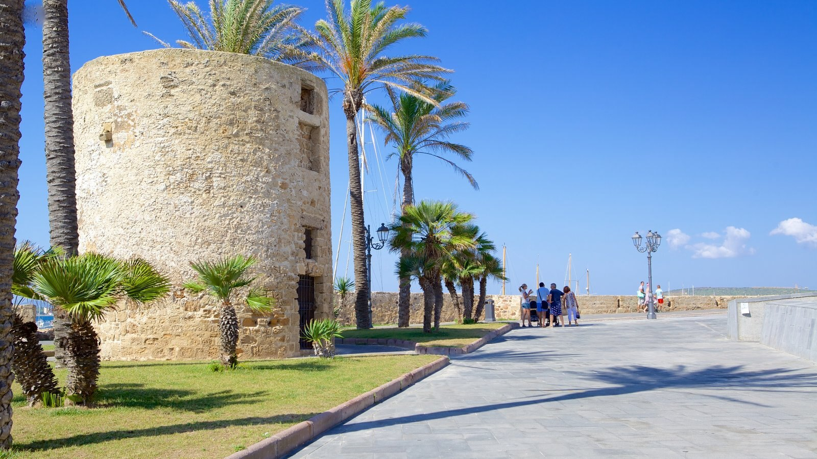 Alghero - Northern Sardinia which includes heritage architecture