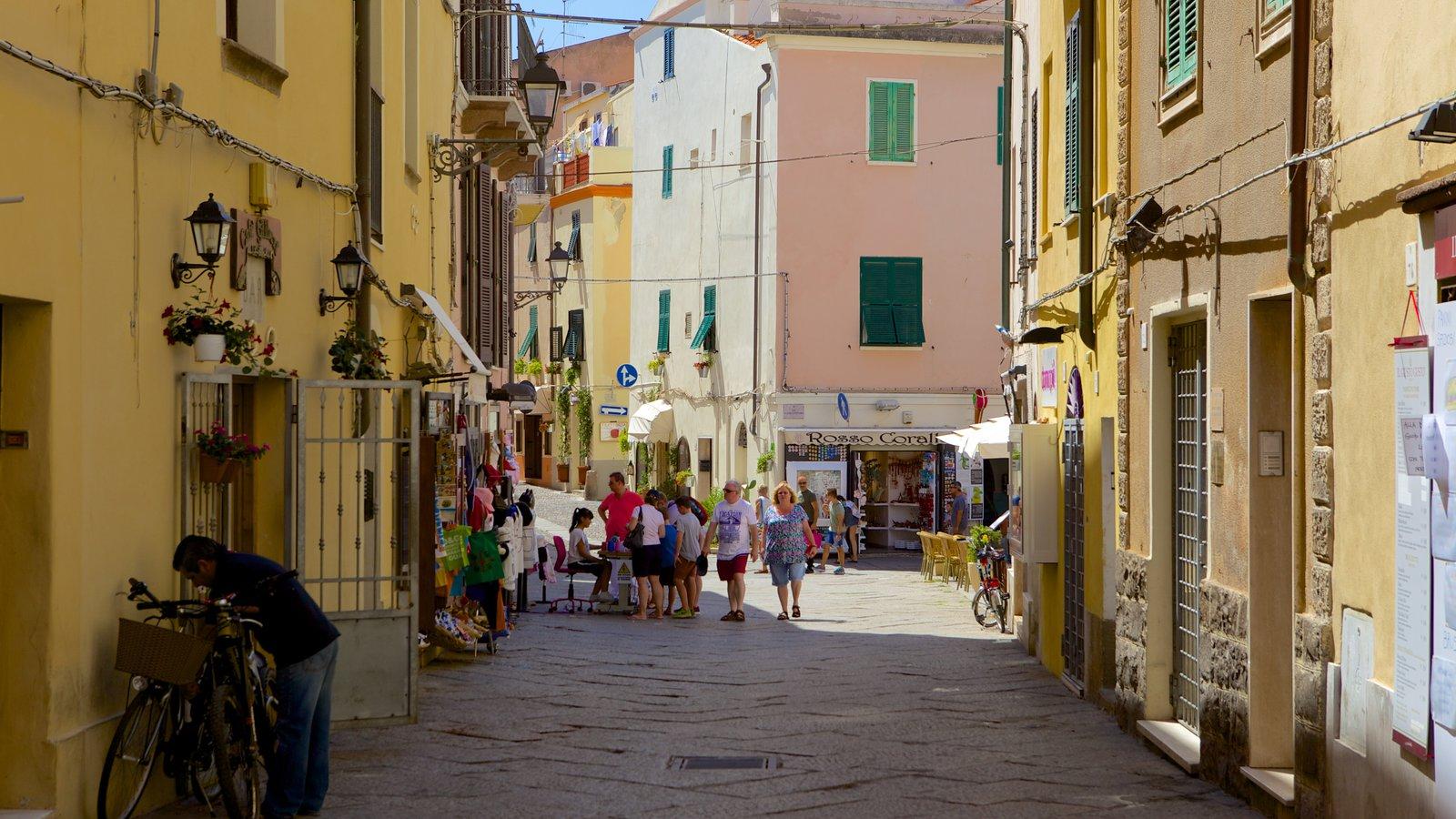 Alghero - Northern Sardinia showing street scenes