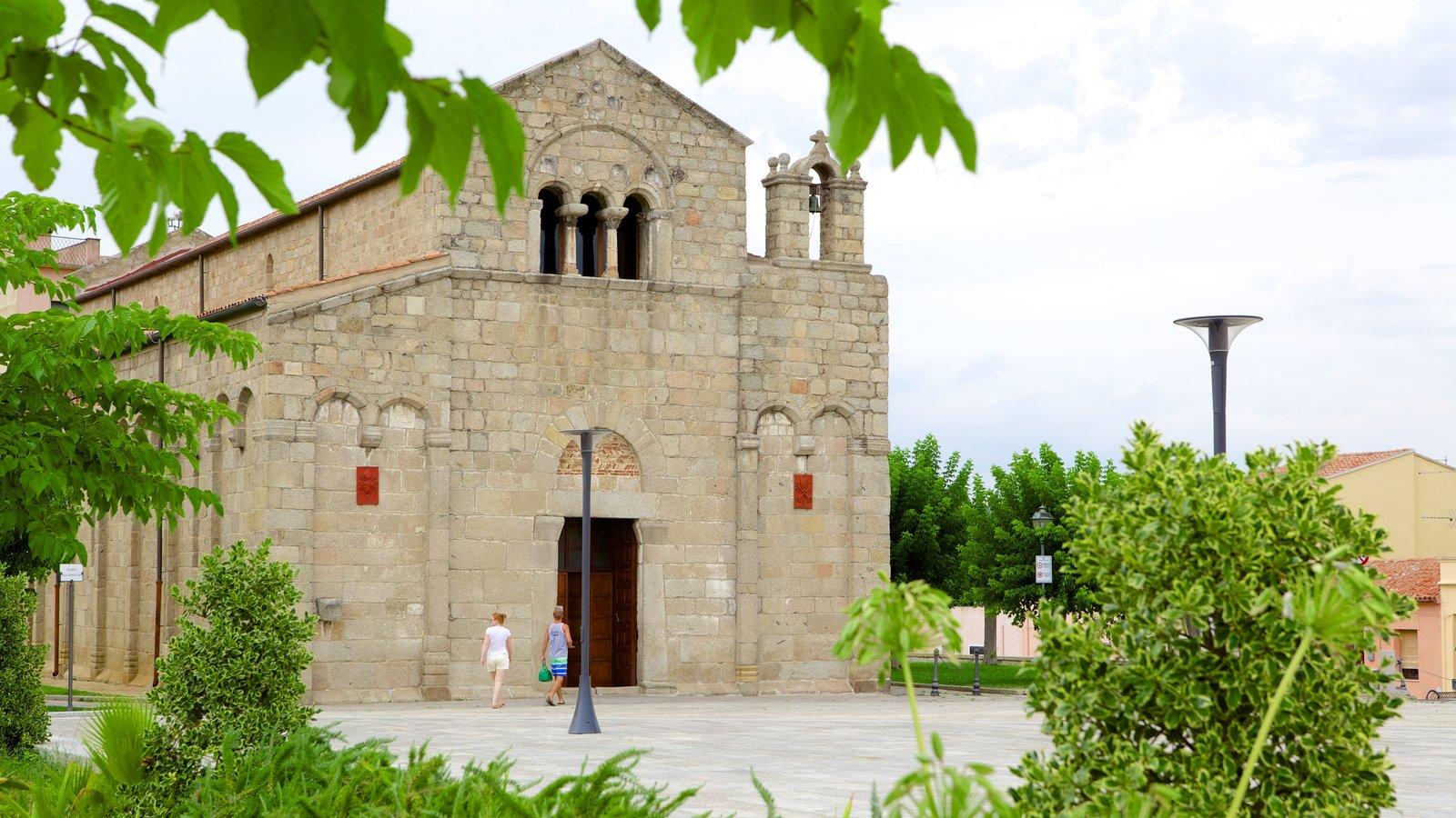 Basilica of San Simplicio which includes heritage architecture and a square or plaza