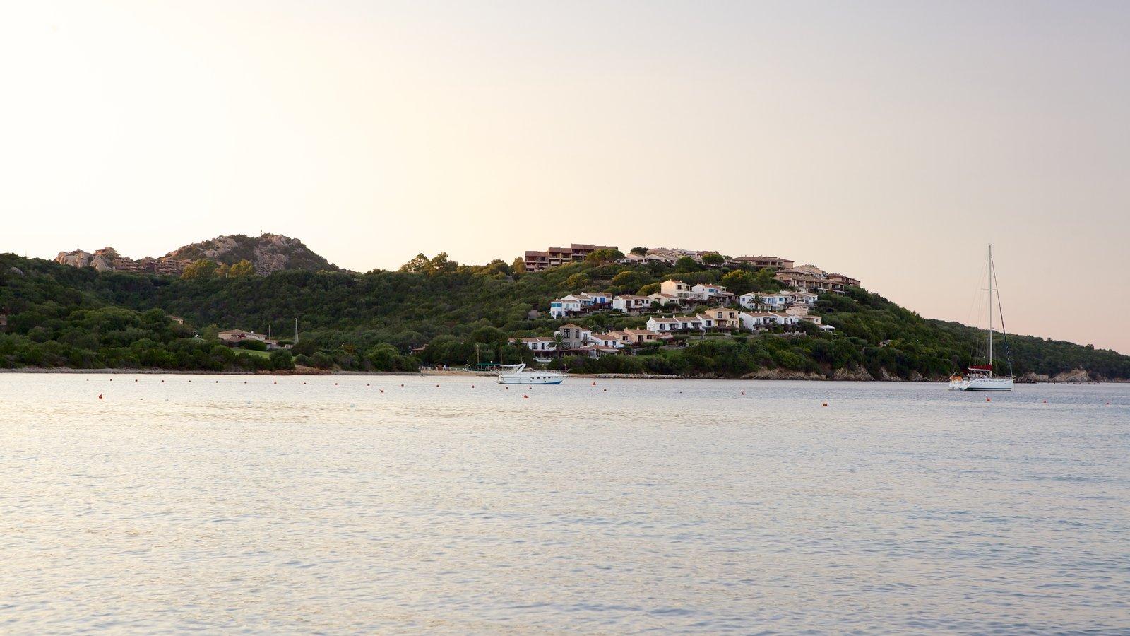 La Marinella Beach featuring boating, general coastal views and a coastal town