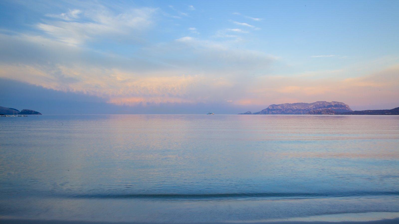 Pittulongu Beach which includes a beach and a sunset