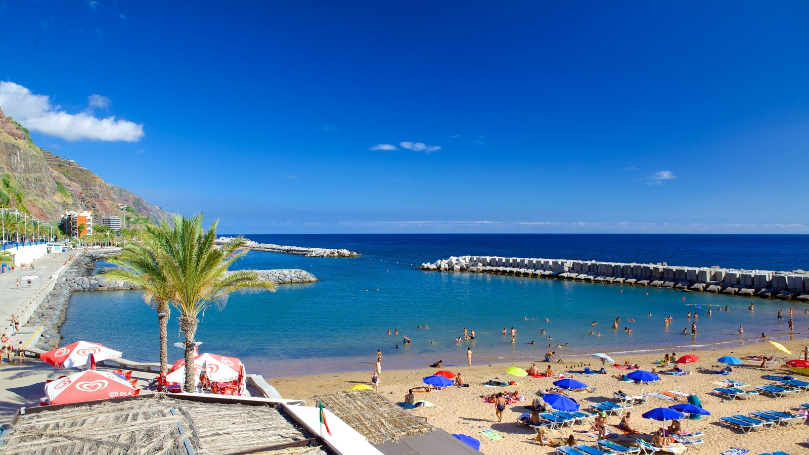 Madeira Island featuring swimming and a beach