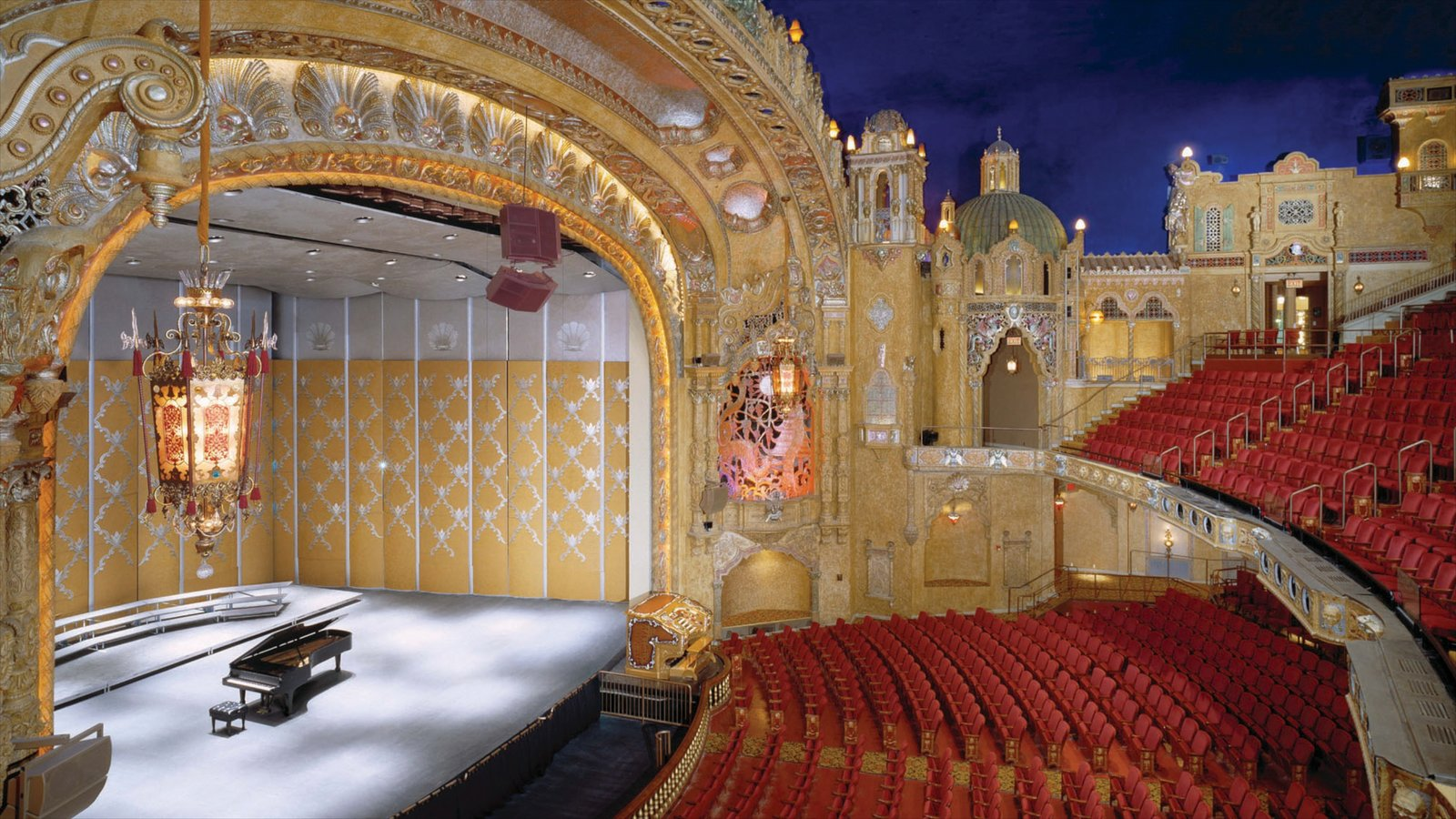 Rockford which includes theater scenes, heritage elements and interior views
