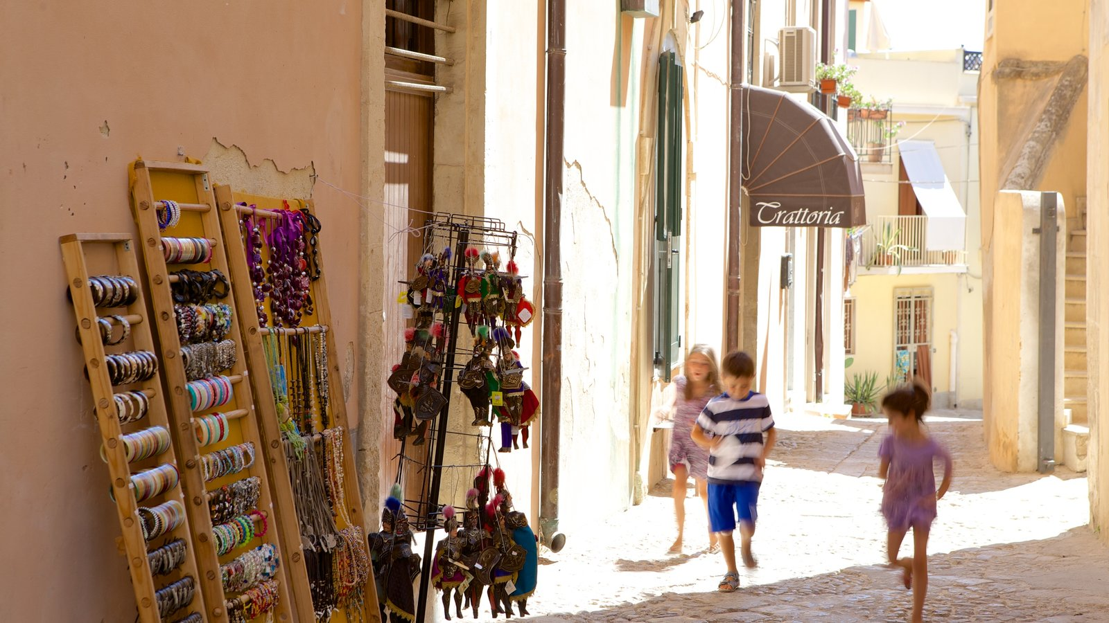 Noto featuring street scenes as well as children