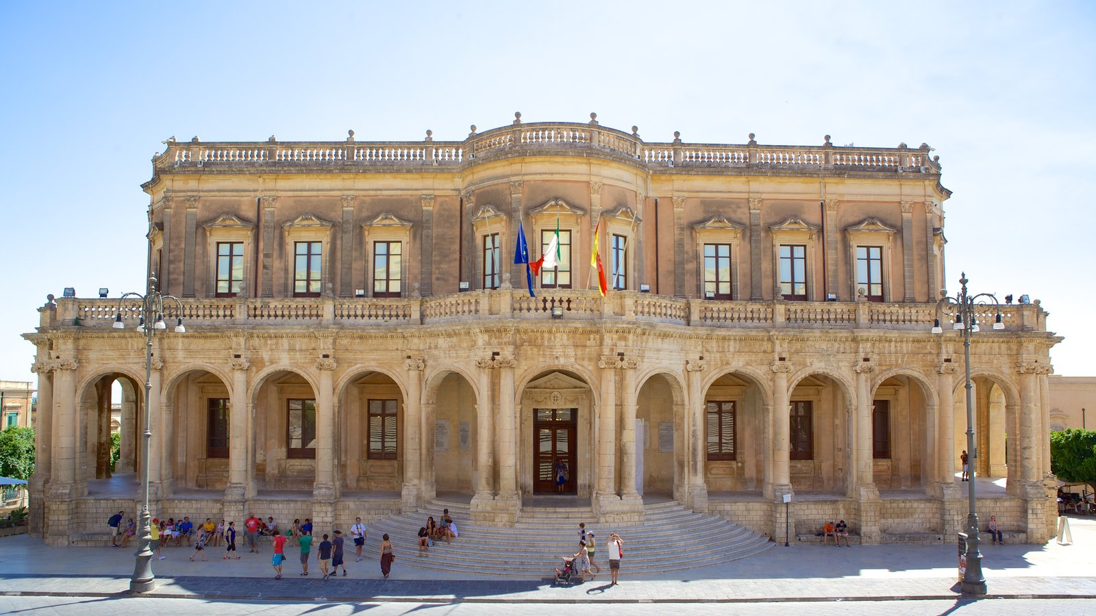 Ducezio Palace showing street scenes, heritage architecture and heritage elements