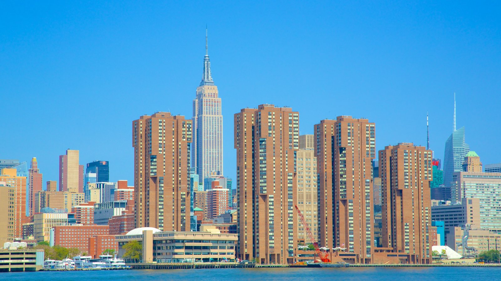 Empire State Building featuring skyline and a city