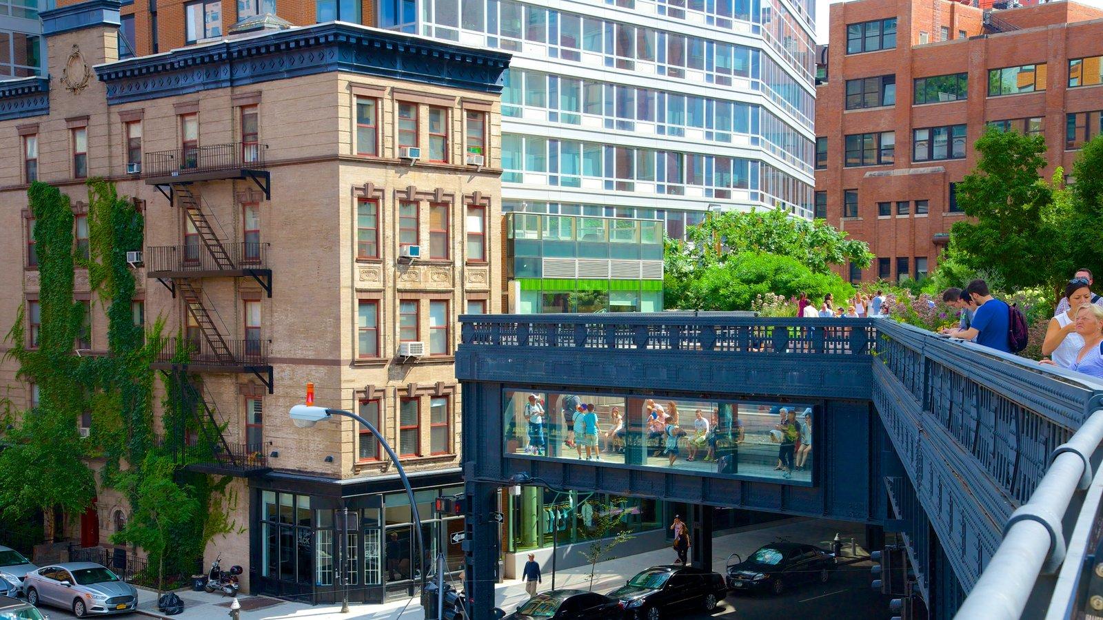 The High Line Park mostrando uma cidade