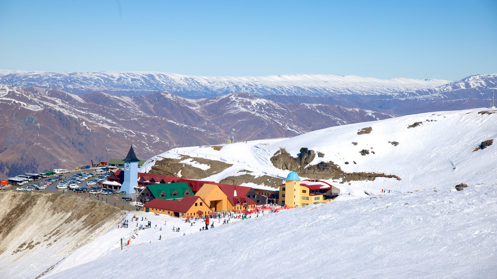 Cardrona Alpine Resort featuring landscape views and snow