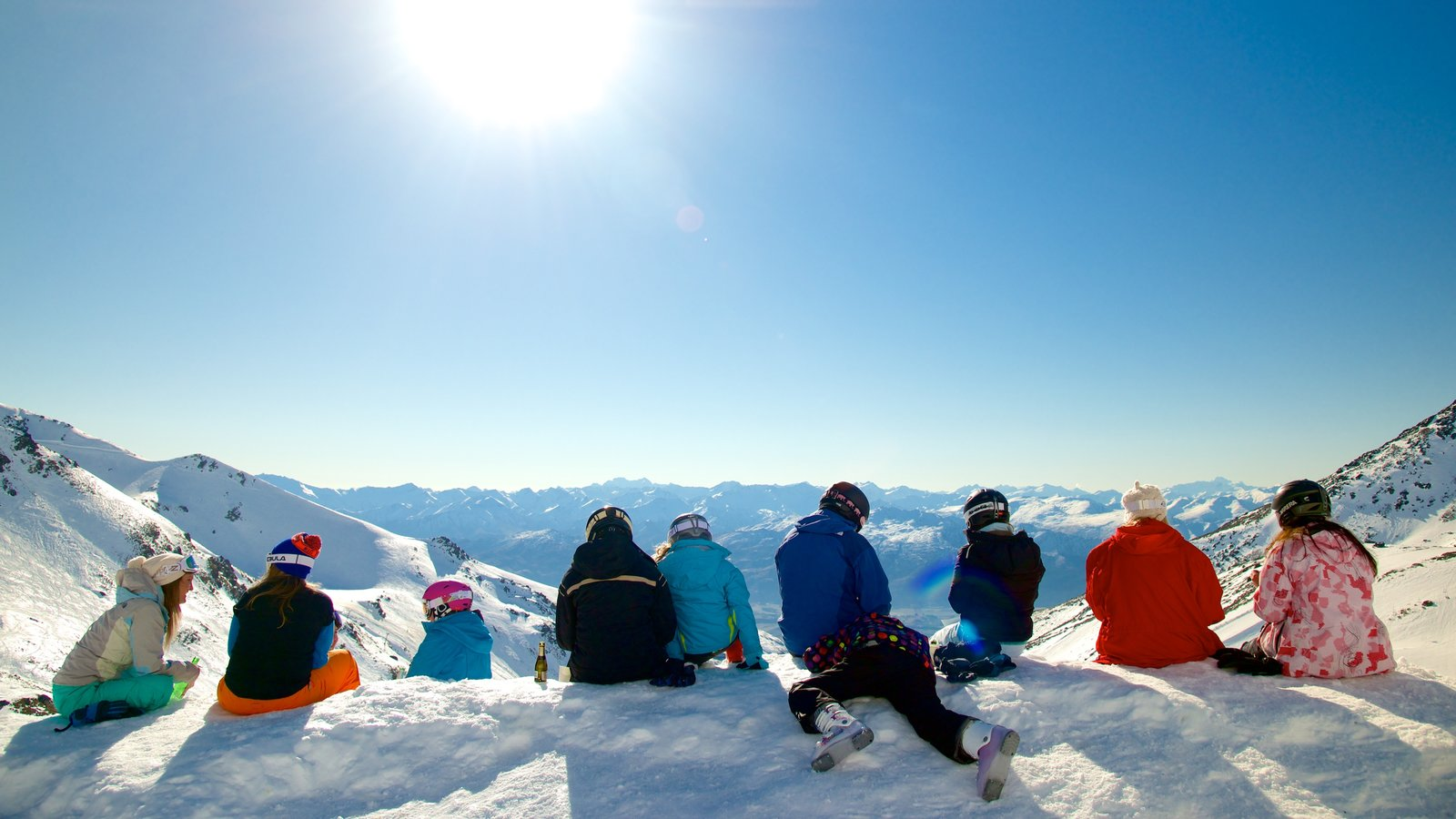 The Remarkables Ski Area which includes snow as well as a small group of people