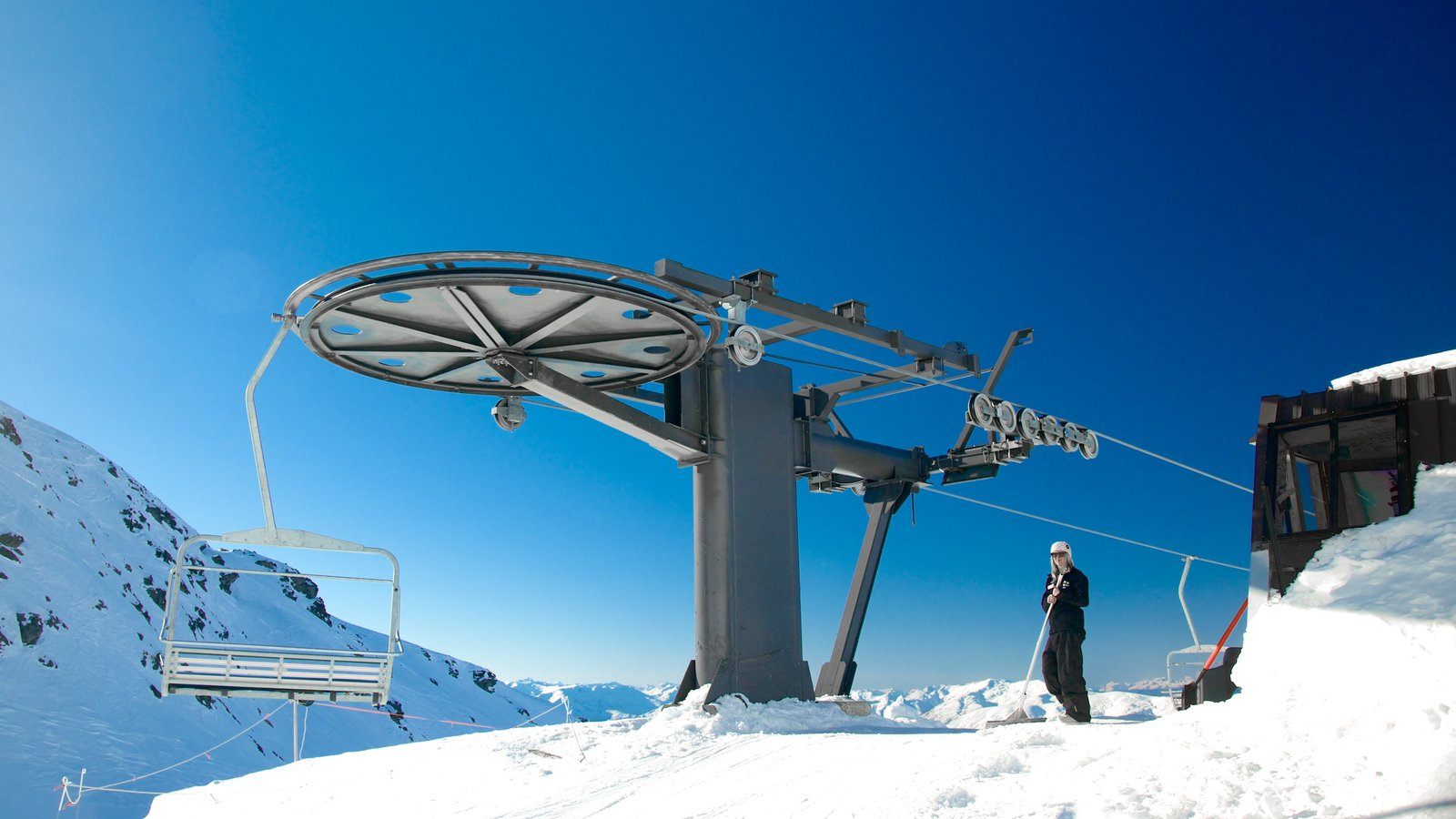 The Remarkables Ski Area which includes a gondola and snow